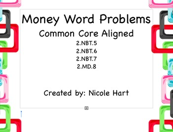 Money Word Problems - Freebie Sample