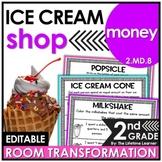 Money Word Problems 2nd Grade    Ice Cream Room Transformation