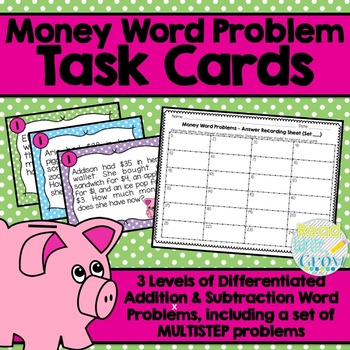 Money Word Problems {Addition, Subtraction, Multistep}