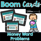 Money Word Problems BOOM Cards | Distance Learning