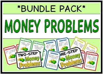 Money Word Problems (BUNDLE PACK)