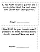 Money Word Problems Booklet