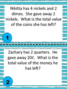 Money Word Problems Carousel Game