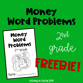 Money Word Problems 2nd Grade FREE