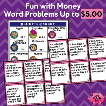 Money Word Problems - Financial Literacy