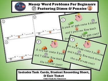 Money Word Problems For Beginners