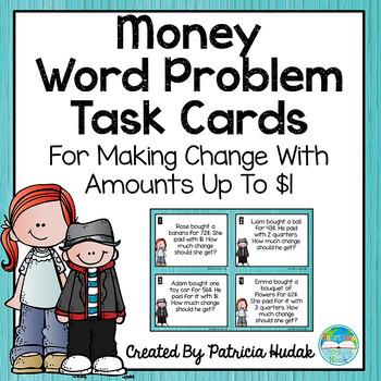 Money Word Problems: Making Change