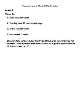 Money Word Problems Packet