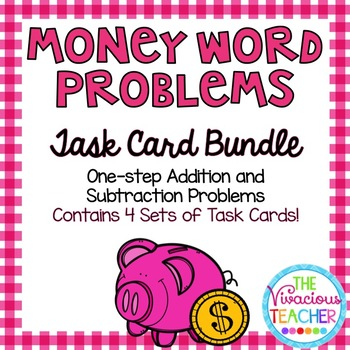 Money Word Problems  Bundle ~ Addition and Subtraction Tas