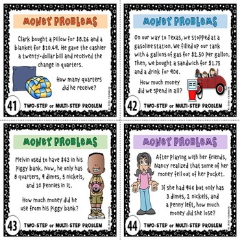 Money Word Problems Task Cards
