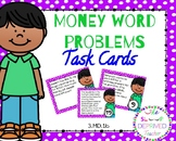 Money Word Problems Task Cards - 3rd Grade