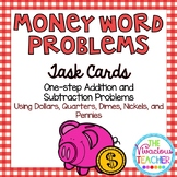 Money Word Problems ~ Addition and Subtraction Task Cards/