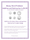 Money Word Problems for Grades 1 and 2