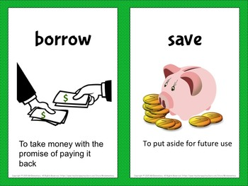 Money Vocabulary Word Wall