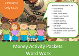 Money Word Work Packets (2) – 10 words, no prep spelling packet, 50+ pages