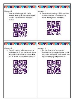 Money Worded Problem Task Cards