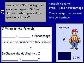Using Percents- Working a Budget Mathematics (worksheet in