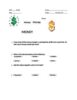Money Worksheet