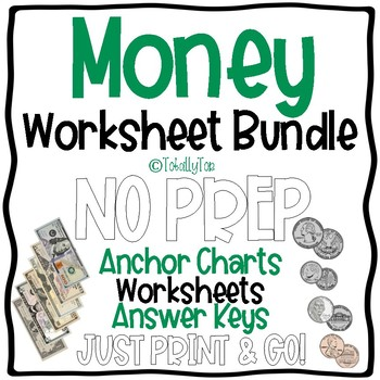 Money Worksheet Bundle for Beginners & Special Education