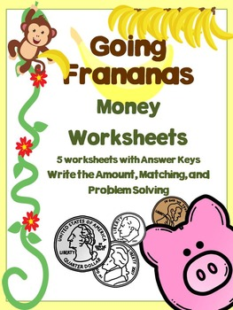 money worksheets by going frananas teachers pay teachers. Black Bedroom Furniture Sets. Home Design Ideas
