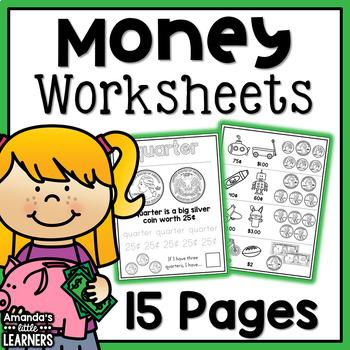 Money Worksheet Pennies Teaching Resources | Teachers Pay Teachers