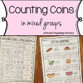 Money Worksheets {Counting Coins in Mixed Groups}