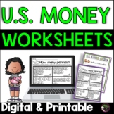 Money Worksheets | Counting U.S. Coins | Digital and Printable