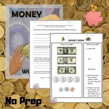 money worksheets money sense and making change by innovative teacher. Black Bedroom Furniture Sets. Home Design Ideas