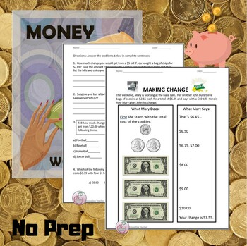 It's just a graphic of Persnickety Free Printable Making Change Worksheets