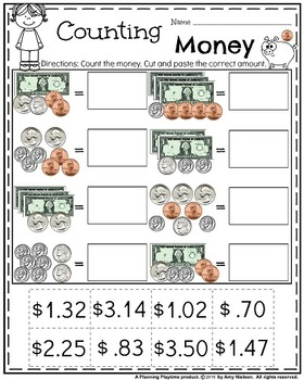 Money Worksheets by Planning Playtime | Teachers Pay Teachers