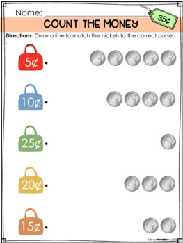 Money Worksheets: coin introduction