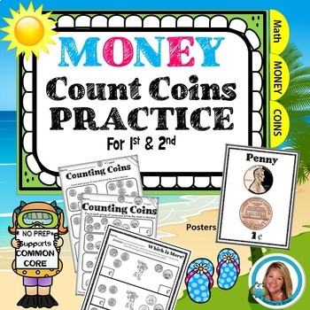 Money Worksheets 1st and 2nd Grade - Counting Coins - Mone