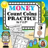 Money Worksheets 1st and 2nd Grade   Counting Coins