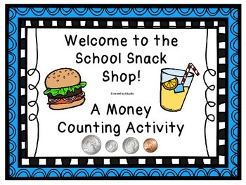 Money Write the Room or Scoot- School Snack Shop