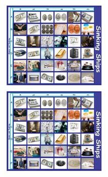 Money and Banking Legal Size Photo Battleship Game