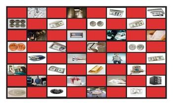 Money and Banking Checker Board Game