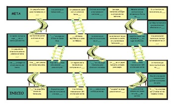 Money and Banking Spanish Slides and Stairs Board Game