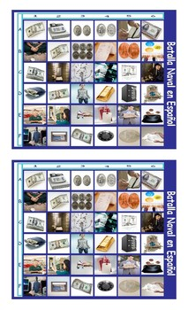 Money and Banking Spanish Legal Size Photo Battleship Game