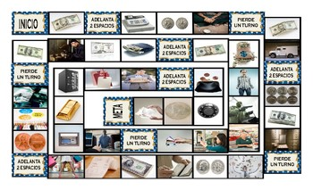 Money and Banking Spanish Legal Size Photo Board Game
