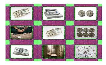 Money and Banking Spanish Legal Size Photo Card Game