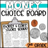 Money and Coins Enrichment Activities - Math Menu, Choice Board