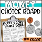 Money and Coins Enrichment Activities - Math Menu, Choice Board