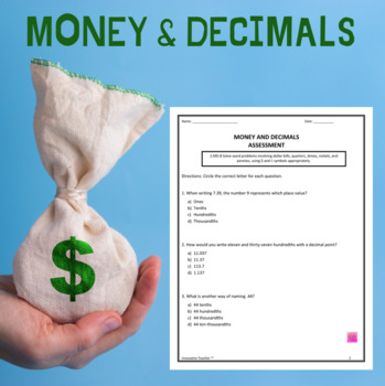 Money and Decimals Duo - Assessment and Worksheet