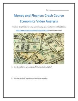 Money and Finance: Crash Course Economics- Video Analysis with Key