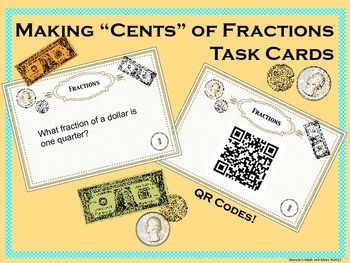 Money and Fractions - Task Cards