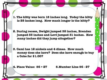 Money and Measurement Word Problems