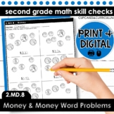 Money and Money Word Problems | Second Grade Math 2.MD.8