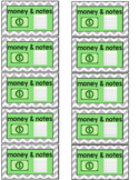 Money and Notes Label