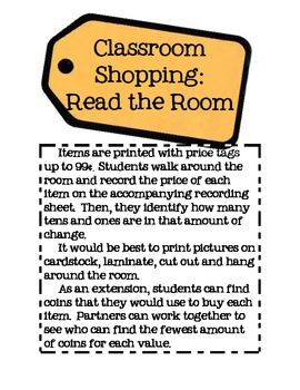 Money and Place Value: Read the Room