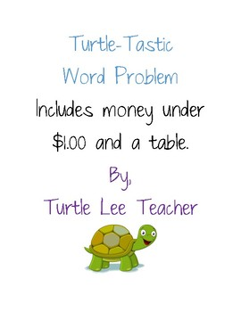 Money and Table word problem